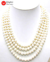 Ожерелье женское из натурального жемчуга 6 7 мм 80 дюймов