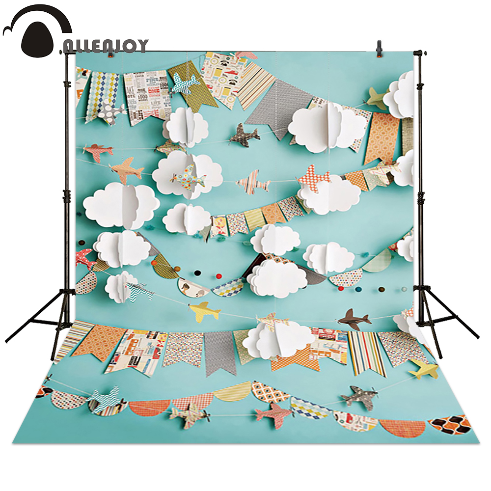 Allenjoy Photography backdrops Paper plane children newborn background voor fotostudio
