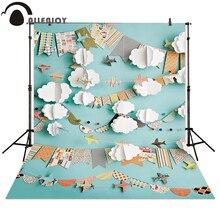 Allenjoy fotografia backdrops papel bandeira avião crianças quarto bolo recém nascido esmagar fundo para estúdio de fotos