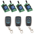 DC 12V 1CH RF Wireless Switch 3 4-key Waterproof Remote Control Transmitter +4 Receiver Relay