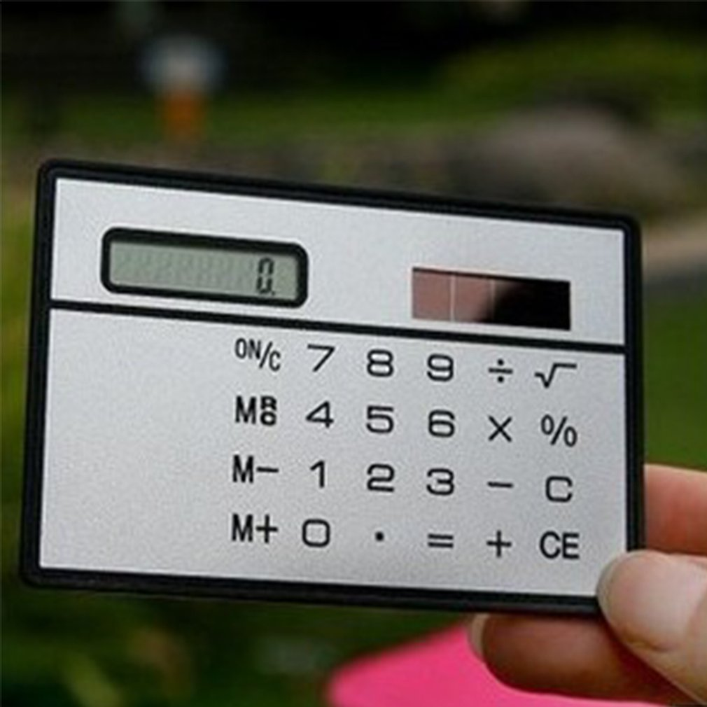 8 Digit Ultra Thin Solar Power Calculator with Touch Screen Credit Card Design Portable Mini Calculator for Business School