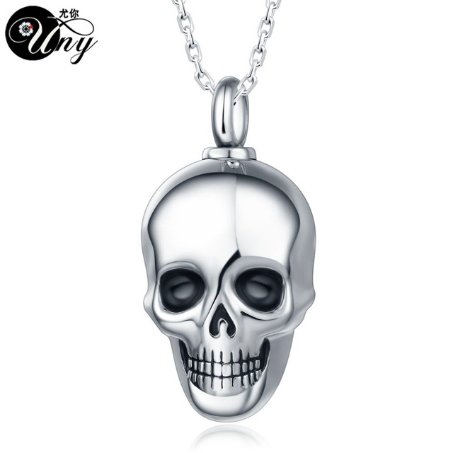 Uny trendy stainless steel skull pet urn ashes pendant perfume uny trendy stainless steel skull pet urn ashes pendant perfume bottle memorial ash keepsake cremation necklace aloadofball Choice Image