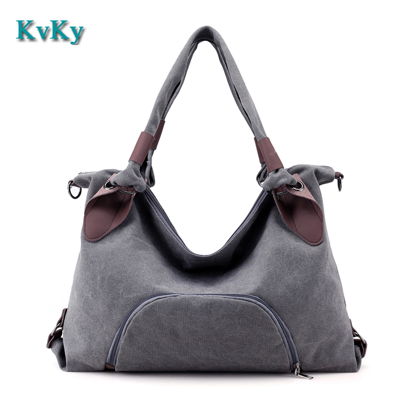 KVKY Canvas Bag Women Handbags Laides Shoulder Bag New Fashion Sac A Main Femme De Marque Casual Bolsos Mujer Tote Bags наборы для поделок чудо творчество чудо творчество disney мозаика сингл olaf
