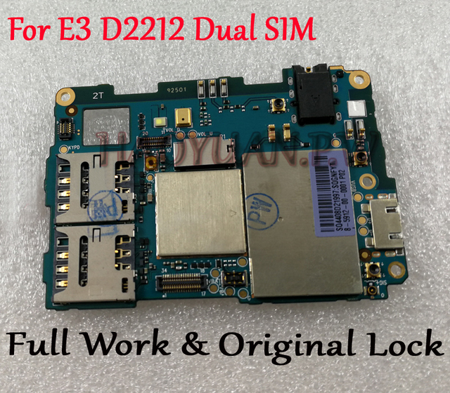 US $31 99 |Full Work Original Unlocked Mainboard For Sony Xperia E3 Dual  SIM D2212 Motherboard Logic Circuit Board Plate Fast Ship-in Mobile Phone