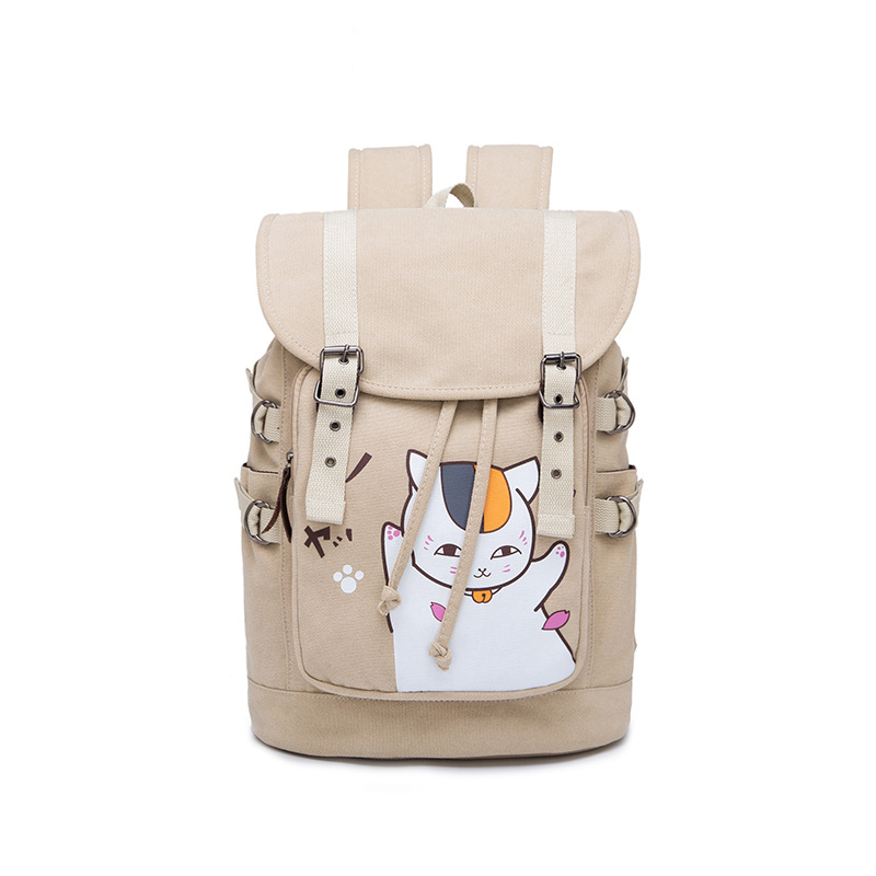 Anime Natsume Yuujinchou Cat Style  Backpack Student School Canvas Laptop Bag Casual Bag Leisure Rucksack Cosplay Mochila Gifts vintage multifunction business travel canvas backpack men leisure laptop bag school student rucksack