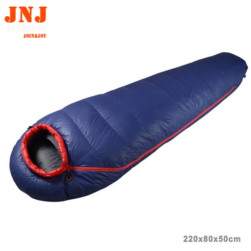 Best brand new winter outdoor hiking camping down sleeping bag mummy style white duck down lining sleep bags yin qi shi man winter outdoor shoes hiking camping trip high top hiking boots cow leather durable female plush warm outdoor boot