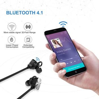 Mpow MBH29 Wireless Bluetooth 4.1 Earphone Waterproof Sport In-ear Wireless Earbuds with Microphone Hands-free Call Headphones