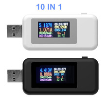 10 в 1 USB детектор Вольтметр Амперметр USB тестер напряжения тока тестер мощности измеритель напряжения ток скидка 20