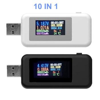 10 IN 1 USB Detector Voltmeter Ammeter USB Tester Voltage Current Tester Power Capacity Tester Meter Voltage Current 20% off