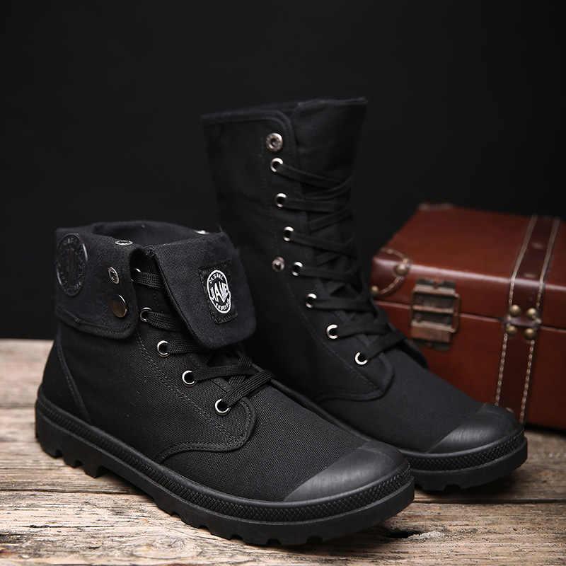 Мужские зимние ботинки; коллекция 2018 года; модные парусиновые ботильоны из микрофибры; сезон осень-зима; мужская обувь