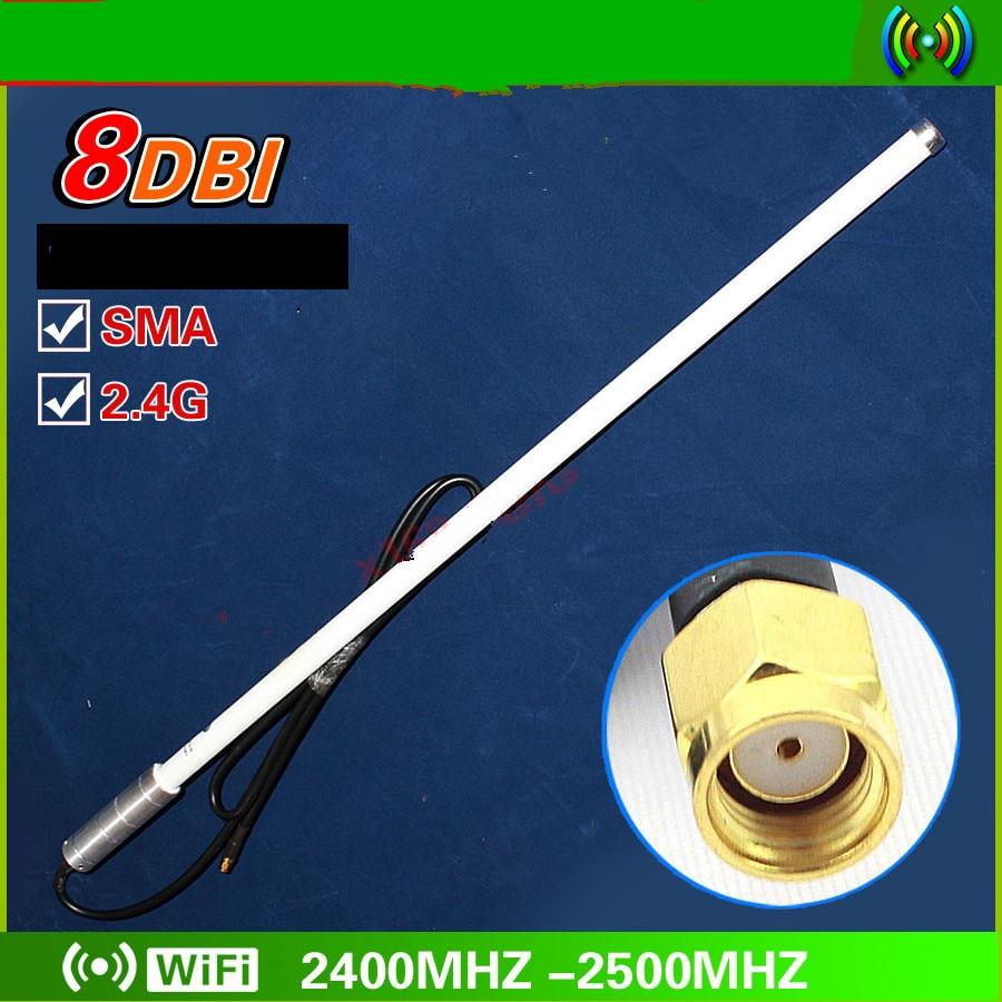 OSHINVOY 2.4g 8dBi omni fiberglass antenna SMA male Wifi 2.4G roof fiberglass base station antenna 2400-2500MHz outdoor antenna