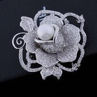 Полноценно горный хрусталь циркон MS жемчужные броши красивые розы контакты свитер цепи подарок к празднику аксессуары