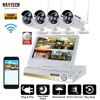 DAYTECH 960P NVR Kit Wireless CCTV 4CH LCD Surveillance Camera System HD IP Bullet Camera WiFi