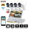 DAYTECH 960P NVR Kit Wireless CCTV 4CH LCD Surveillance Camera System HD IP Bullet Camera WiFi