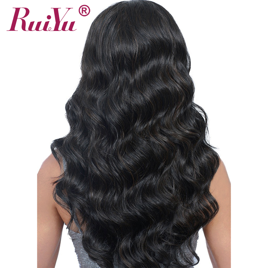 RUIYU Body Wave Wig Full Lace Front Human Hair Wigs With Baby Hair Pre Plucked Lace