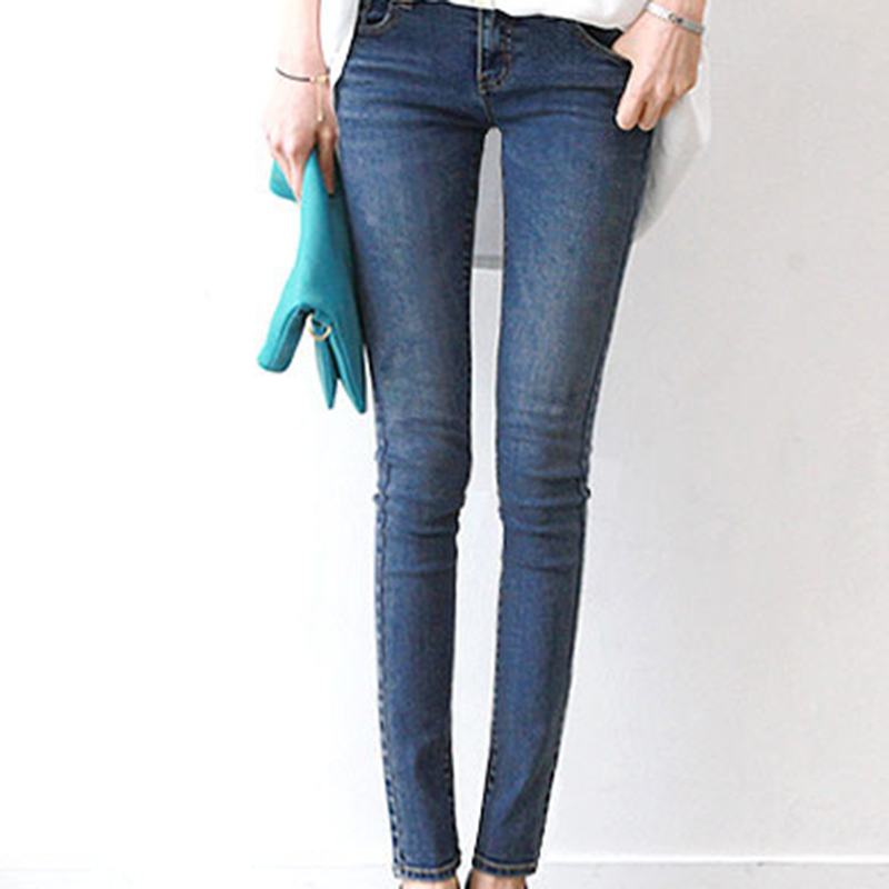 Spring Autumn Fashion Bottoms Women Sexy Denim Pants Trousers Mid Waist Elastic Pencil Pants Jeans Female Skinny Denim Leggings new fashion spring autumn elastic high waist jeans female tight fitting skinny pants trousers plus size slim pencil pants