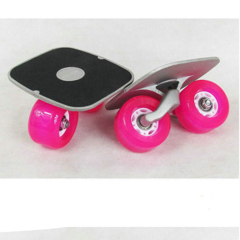 Planche à roulettes Portable planche à roulettes pour la ligne de liberté rouleau plaque de dérive de route antidérapant planche à roulettes Sports roues en polyuréthane à pédales en aluminium