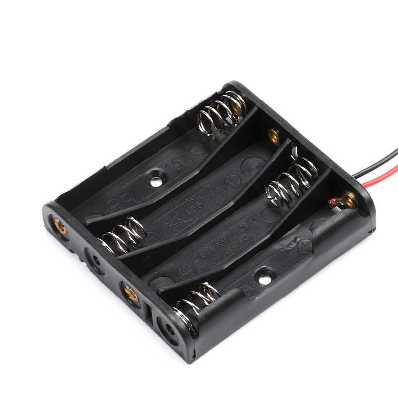 2xAAA 3xAAA 4xAAA 1,5 V plástico negro resorte caja de almacenamiento de la batería caja titular de la batería contenedor de plástico