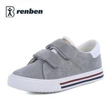 Enfants chaussures filles sneakers en cuir de Porc garçons chaussures de sport 2017 nouveau printemps en cuir chaussures garçons enfants chaussures pour fille de mode enfants