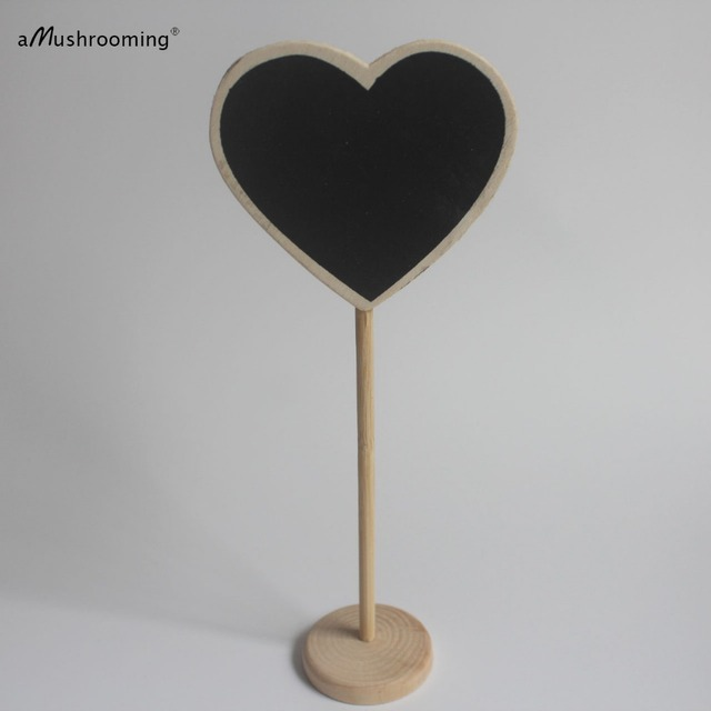 10 Wedding Chalkboard Table Number On Stand Chalk Board Signs Heart Shaped  Numbers Wedding Table Number