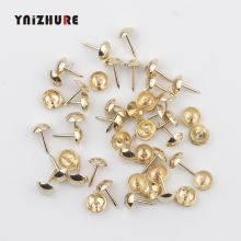 100 шт железные 9 мм золотые обивочные гвозди для ювелирных изделий подарок коробка диван для декоративной обивки гвозди для мебельных гвоздей