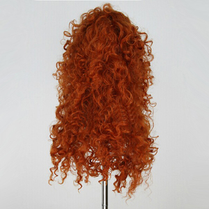 Image 5 - Movie Brave Princess Merida Cosplay Costumes  Mei lida Long Curly Synthetic Wigs Hair Halloween Party Role Play Wigs For Women