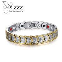 Gloednieuwe vrouwen multi fuction mannen magnetische armband sieraden gezonde zorg carbon armbanden en armbanden voor mannen