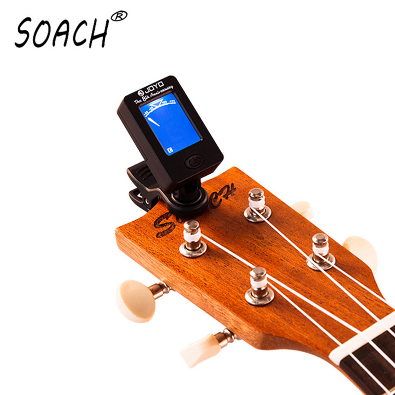 SOACH high quality JOYO acoustic ukulele guitar tuner  portable digital display guitar instrument accessories soach sales ukulele tuner acoustic guitar capo classical guitar aluminum alloy string musical instrument accessories