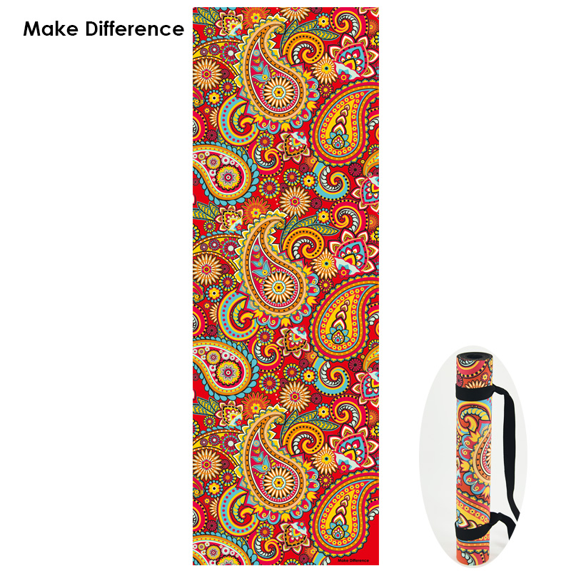 Make Difference Indian Floral Paisley Design Pilates Yoga Mats Non-slip Natural Rubber Fitness Exercise Gym Mat with Strap 3.5mm dmasun slip resistant yoga blanket good quality gymnastics yoga mat towel non slip fitness bikram towels
