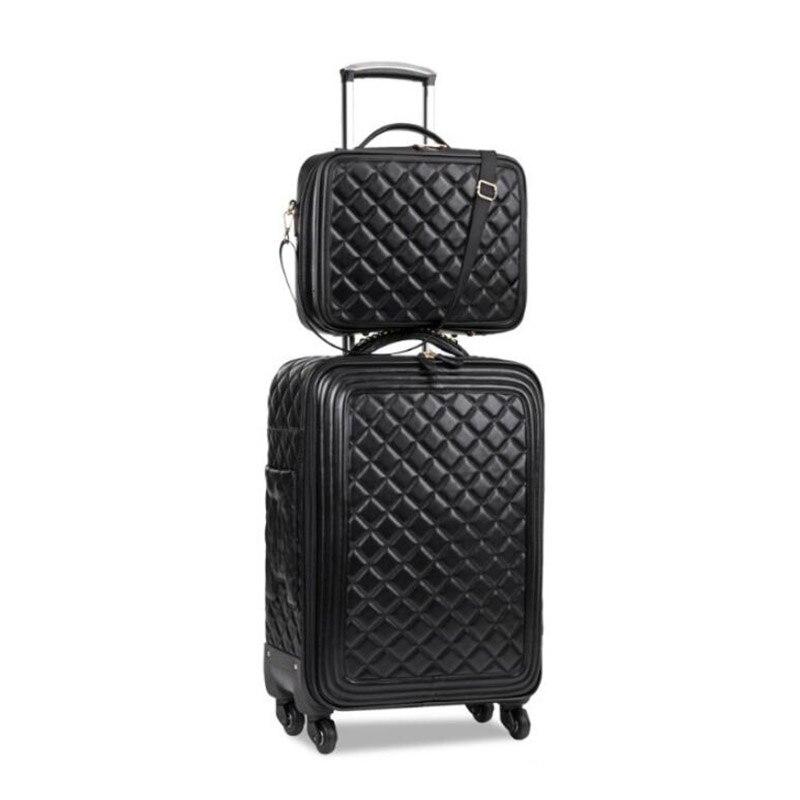 """Opowieść podróży 16 """"20"""" 24 """"cal kobiety spinner skórzany wózek torba zestaw walizka podróżna bagażu zestaw do podróży w Zestawy bagażowe od Bagaże i torby na  Grupa 2"""