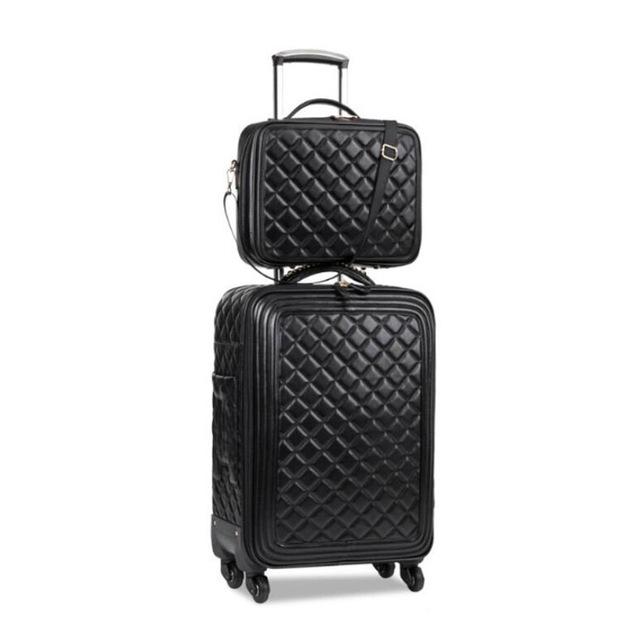 Retro Women's Rolling Luggage