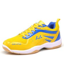 New Mens Badminton Shoes Big Size Badminton Sneakers Sport Blue/Yellow Training Man Mhoes Anti-slippery Sport Shoe Men Badminton