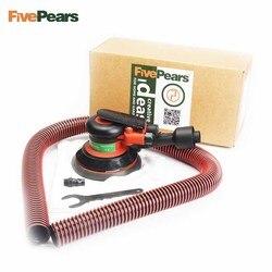 Fiveperas de baixo nível de ruído ar lixadeira orbital aleatória máquina leve 5 Polegada círculo almofada redonda lixadeiras ar com vácuo frete grátis