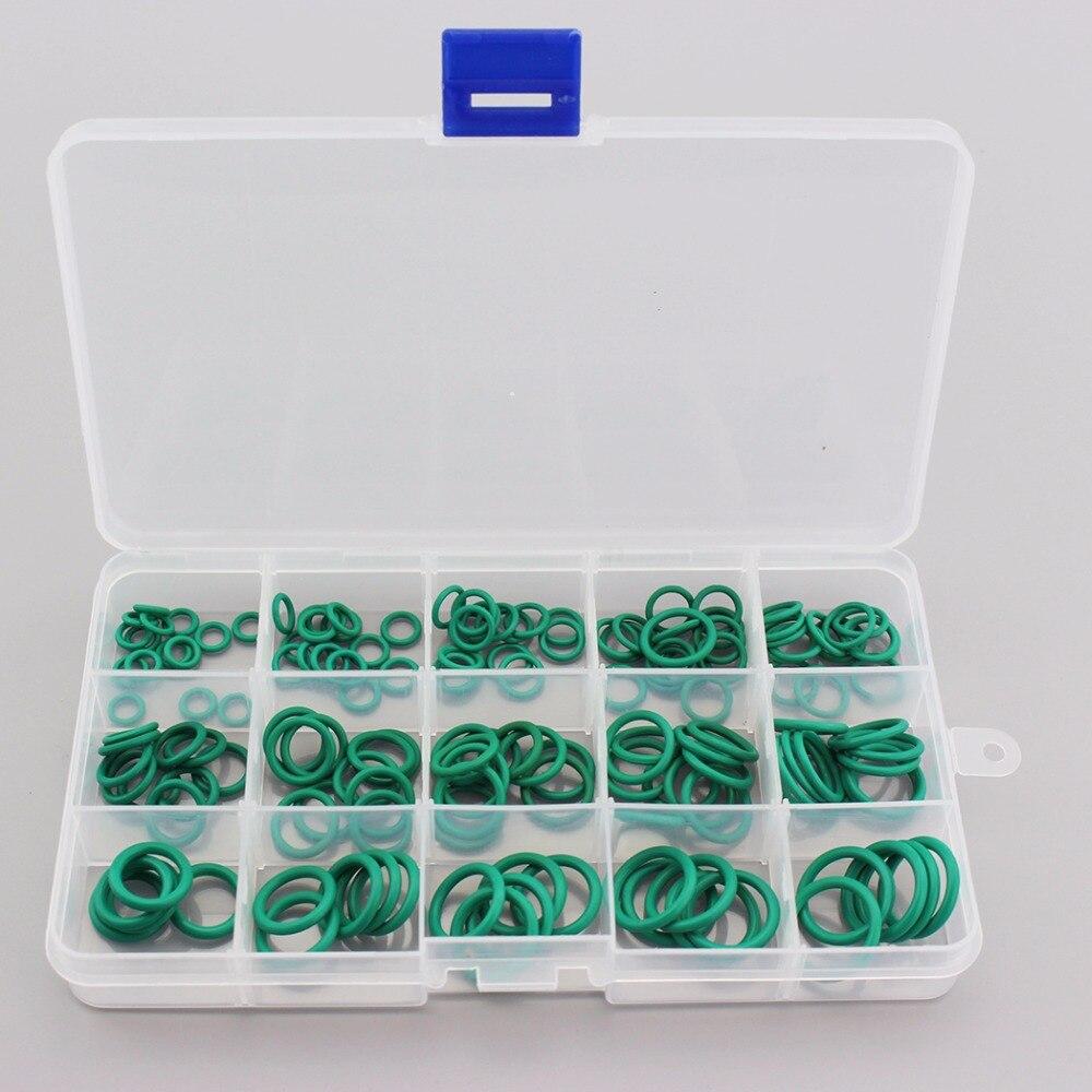 150 STÜCKE = 1 BOX PCP Paintball Durable Buchse Fluor Gummi o-ringe Grün Dichtung Ersatz Dicht O-ring ringe 15 Größen