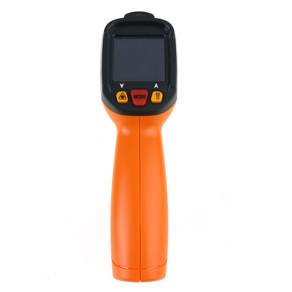 Non-contact Handheld Laser Infrared Thermometer LCD Display Digital Themperature Meter Pyrometer IR Laser Point Gun C/F Selectio  non contact digital laser infrared thermometer gs320 50 360c 58 680f themperature pyrometer ir laser point gun