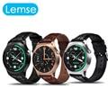 Lemse bluetooth 4.0 smart watch gw01 ips tela redonda vida pulseira de relógio esportivo à prova d' água para a apple samsung xiaomi telefones