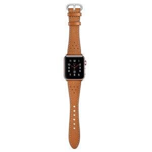 Image 5 - สายหนังแท้สำหรับ Apple นาฬิกา Band 5/4/3/2/1 44 มม.40 มม. iWatch 42 มม.38 มม.Rose Gold Buckle นาฬิกาเข็มขัด