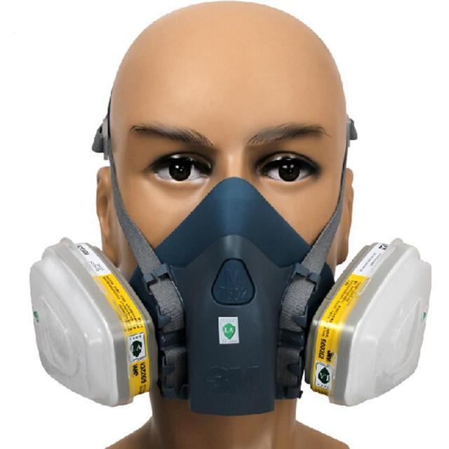 N95 7502 máscaras pintar dobla respirador del gas, Pantalla Facial, Equipo de Seguridad Industrial máscara máscara de protección de Seguridad y Protección