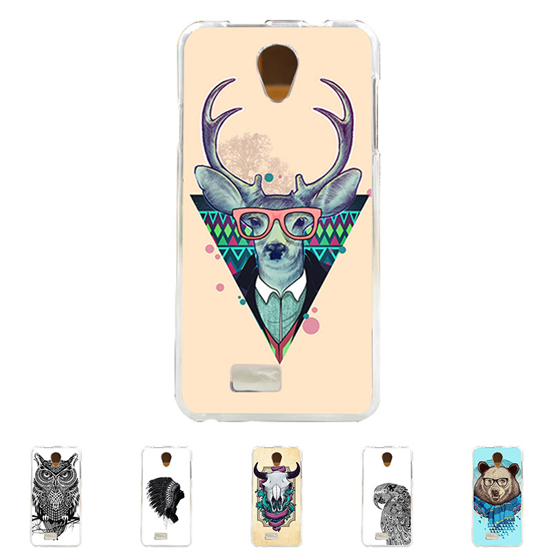 For Fly IQ 4416 Era Life 5 Soft TPU Silicone Mobile Phone Cover Case Color Paint Mask Cellphone Bag Shell Free Shipping