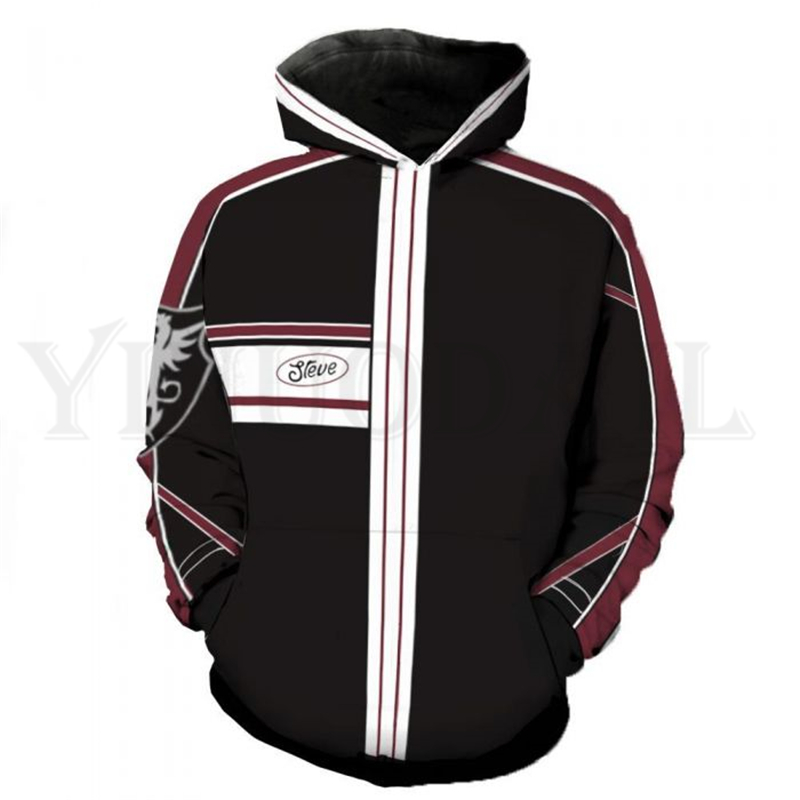 Anime Tekken 7 Sweatshirt Men And Women Zipper Hoodies Steve Fox 3d Print Hooded Jackets For Boys Costume Harajuku Streetwear
