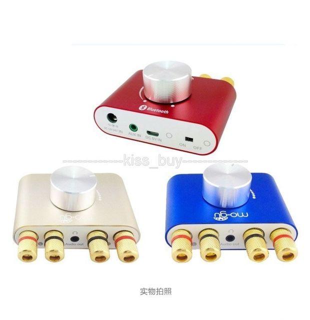 F900 TPA3110 30 W + 30 W Hifi Amplificador De Potência para Subwoofer de Áudio Bluetooth Receptor de Música Estéreo/speaker 12 V 24 V CARRO VERMELHO