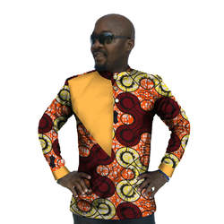Халат африканского Африканский Костюмы африканских платье Топ Продвижение Мода Для мужчин Dashiki 2018 Для мужчин футболка с принтом хлопковые