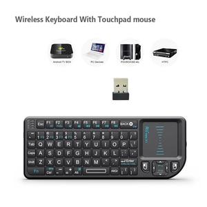 Image 3 - Rii teclado inalámbrico mini X1 Original, 2,4G, Air Fly Mouse, Touchpad portátil para TV inteligente, Android, tv box, PC, portátil, HTPC
