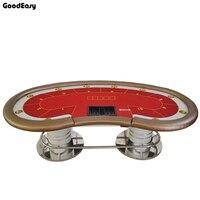 140*280 см 6 цветов казино покер стол Texas Hold'em баккара площади Tbale с 10 игроков