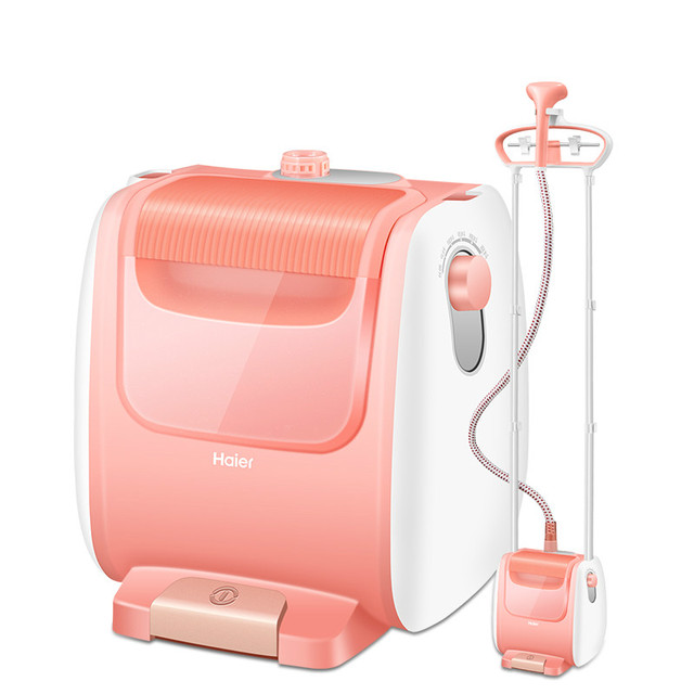 Famous Brand Pink Stand Garment Steamer with Adjustable Height Hanger Ironing Machine Vertical Electric Iron Steam Plancha Vapor