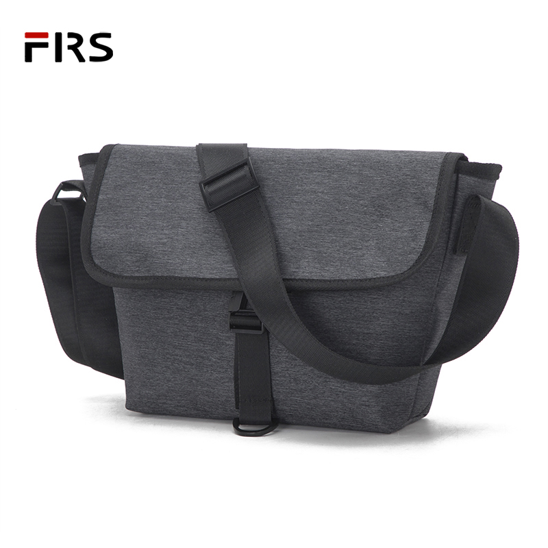Men Crossbody Bag Canvas Small Shoulder Messenger Bags Handbag Chest Pack Bags For Boy Teenagers Gray