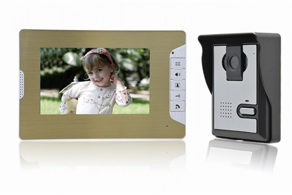 7 Inch 600TVL IR Night Vision Two Way Intercom Video Door Phone