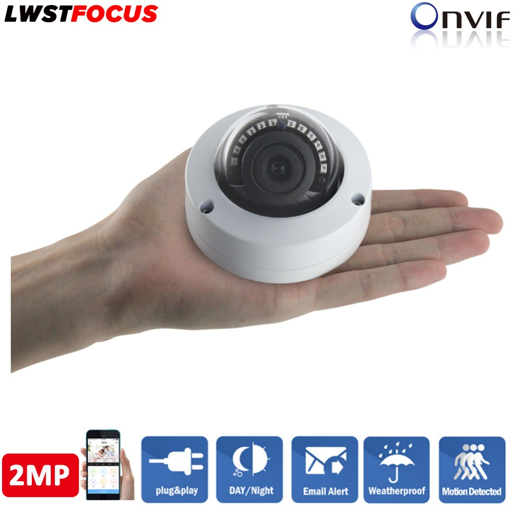 1080P Mini IP Camera IMX323 Sensor 2MP Indoor outdoor Dome Camera Night Vision CCTV 3MP HD Lens H.264/265 P2P ONVIF 2.4 Full HD pu aimetis h 264 2mp 6mm lens ip camera p2p onvif ip camera 720p hd cctv camera 1 0mp indoor night version network ip camera