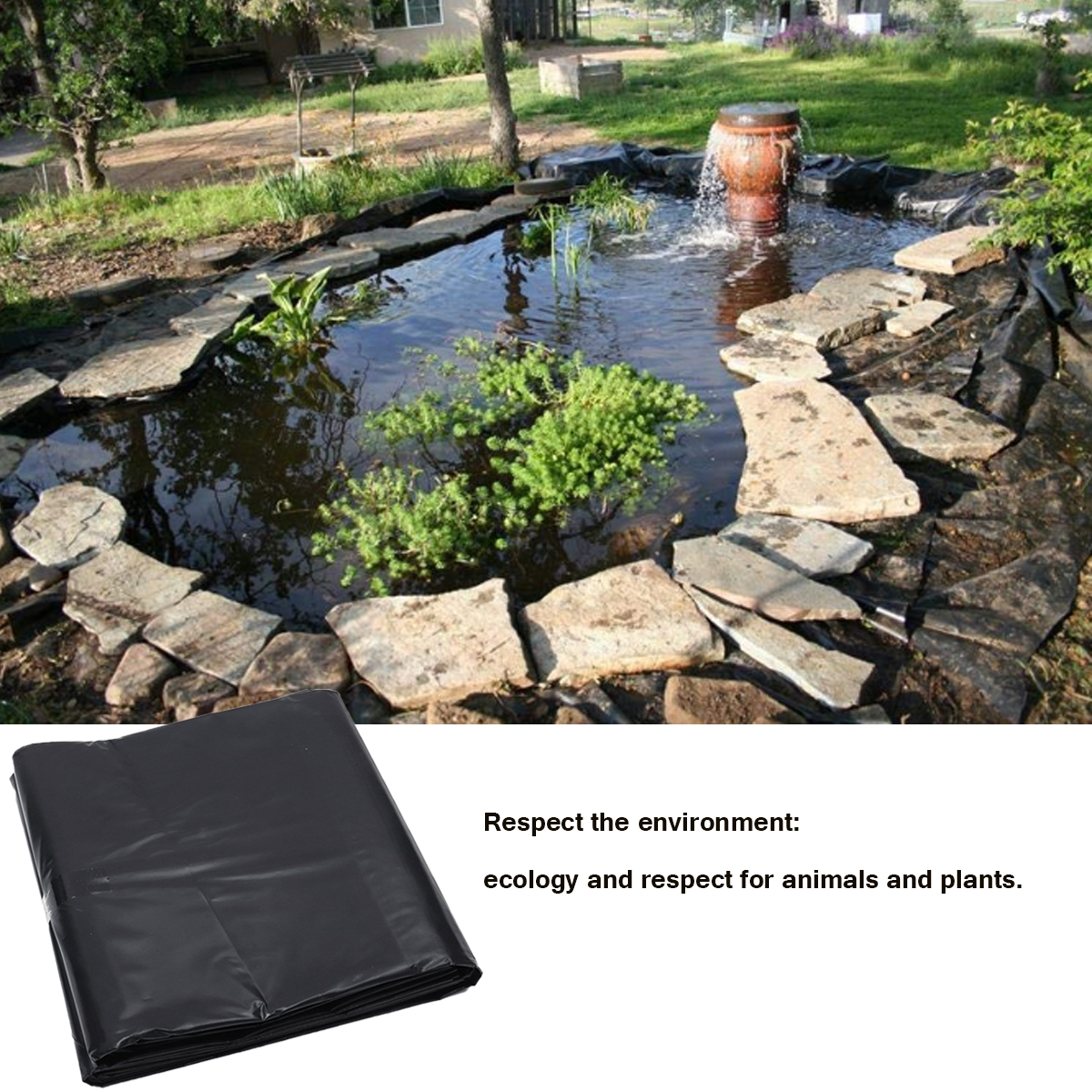 2.5/3x2.5cm Waterproof Fish Pond Liner Garden Pools