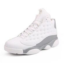 f4eb2afffc78bf Big Size Jordan 13 retro Basketball Shoes Cushioning jodan sneakers leather  stitching black and white training
